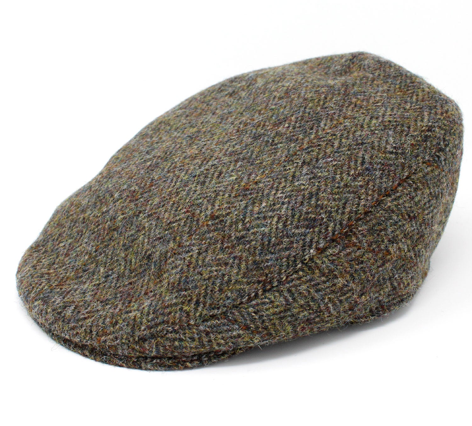 Hanna Tailor Tweed Cap | Green Herringbone
