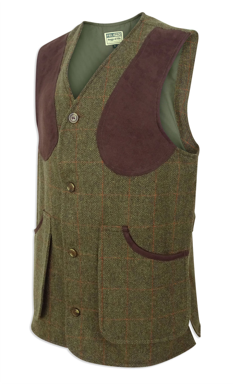 side view Hoggs of Fife Harewood Tweed Waistcoat