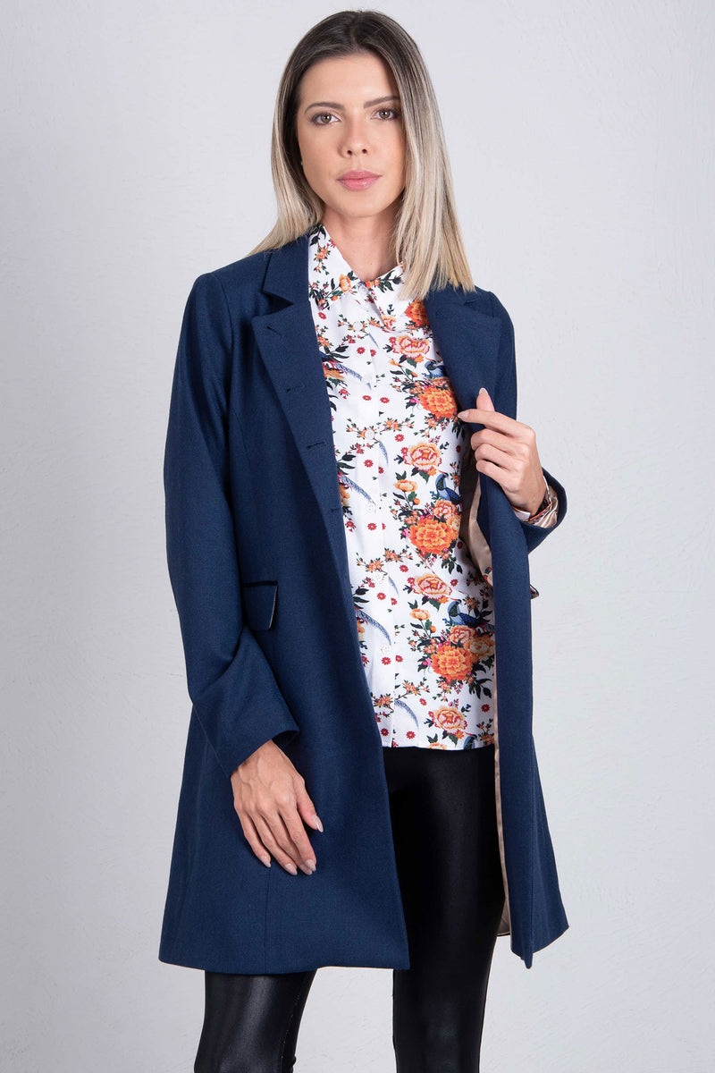 Hartwell Anna Tweed Coat | Navy