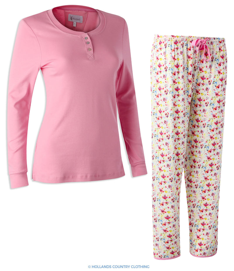 Hartwell Lucy Ladies Pyjama Set | Pink Flowers