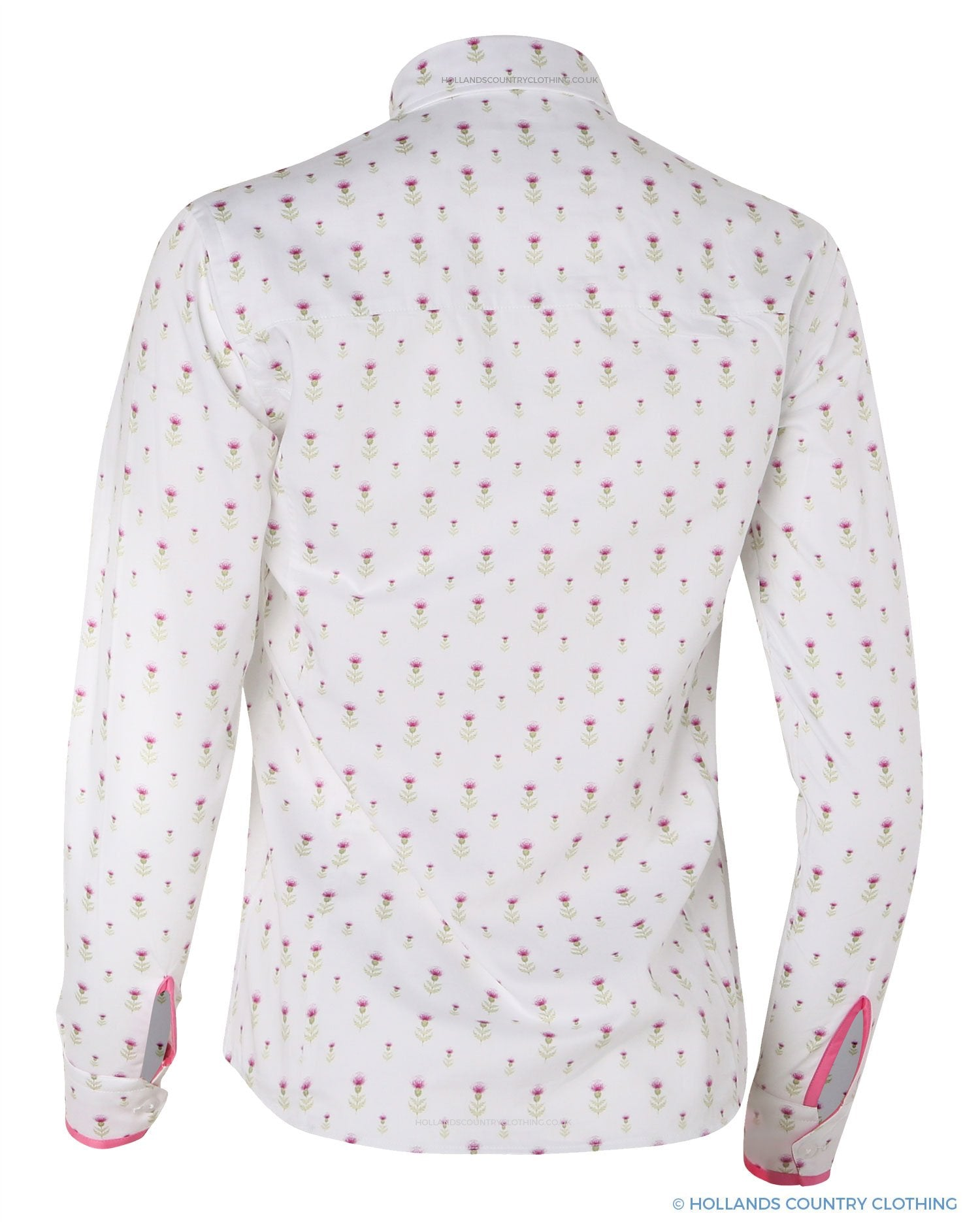 Layla Ladies Christmas Thistle Shirt by Hartwell