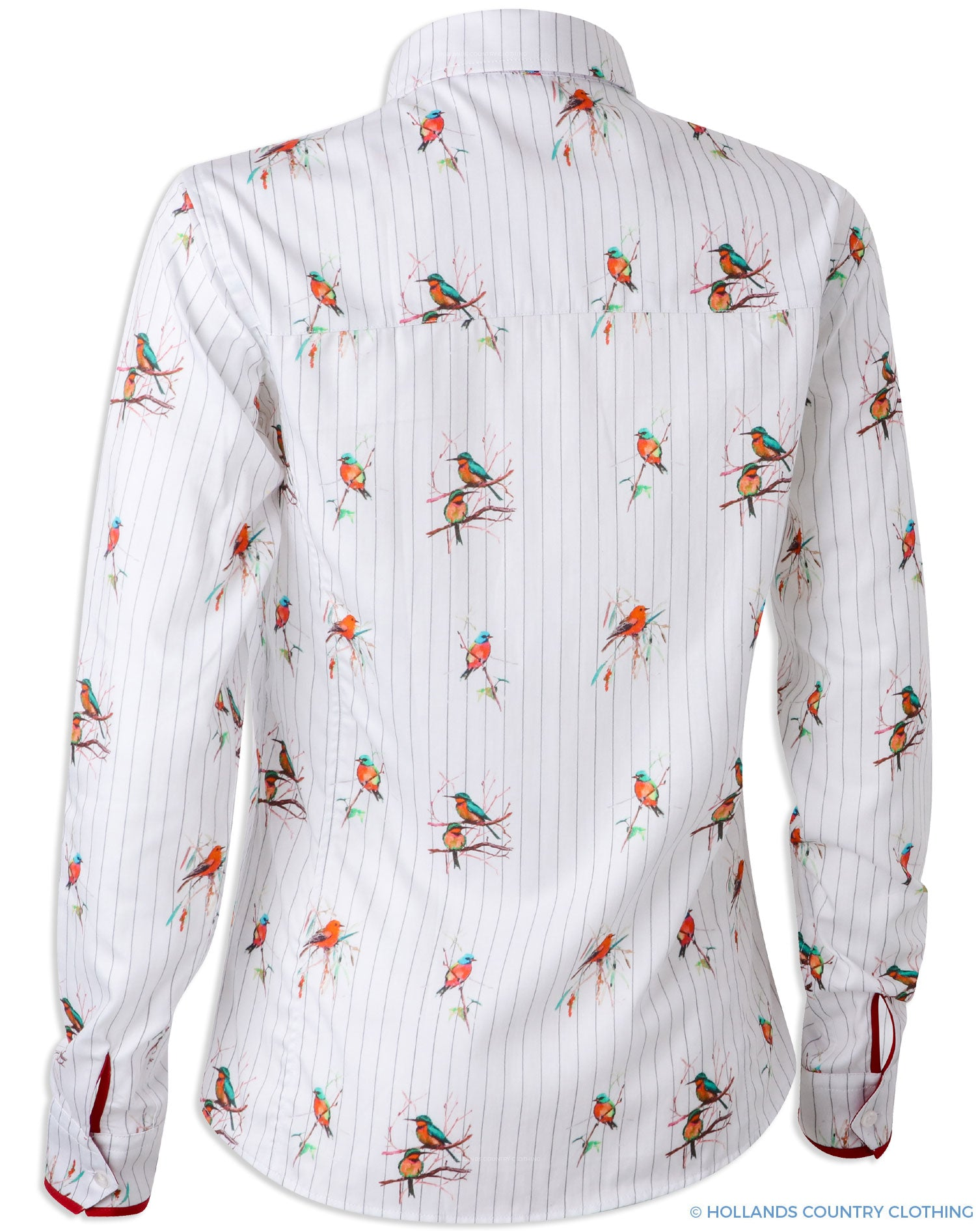 rear view Hartwell Layla Cotton Shirt | Red Birds