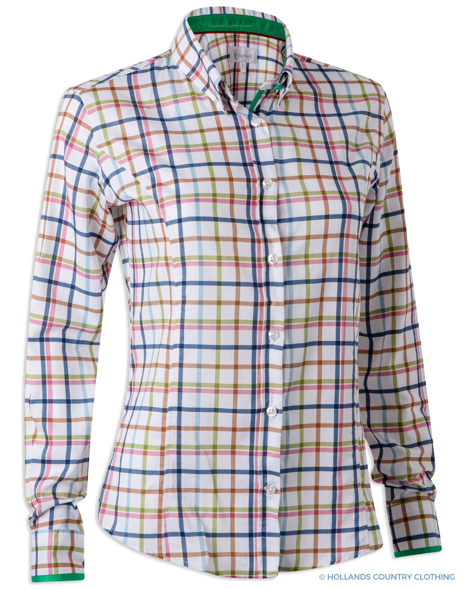 Hartwell Layla Cotton Shirt | Country Check Bright Tattersall
