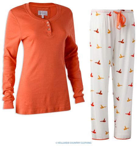 Hartwell Lucy Ladies Pyjama Set | Colourful Birds