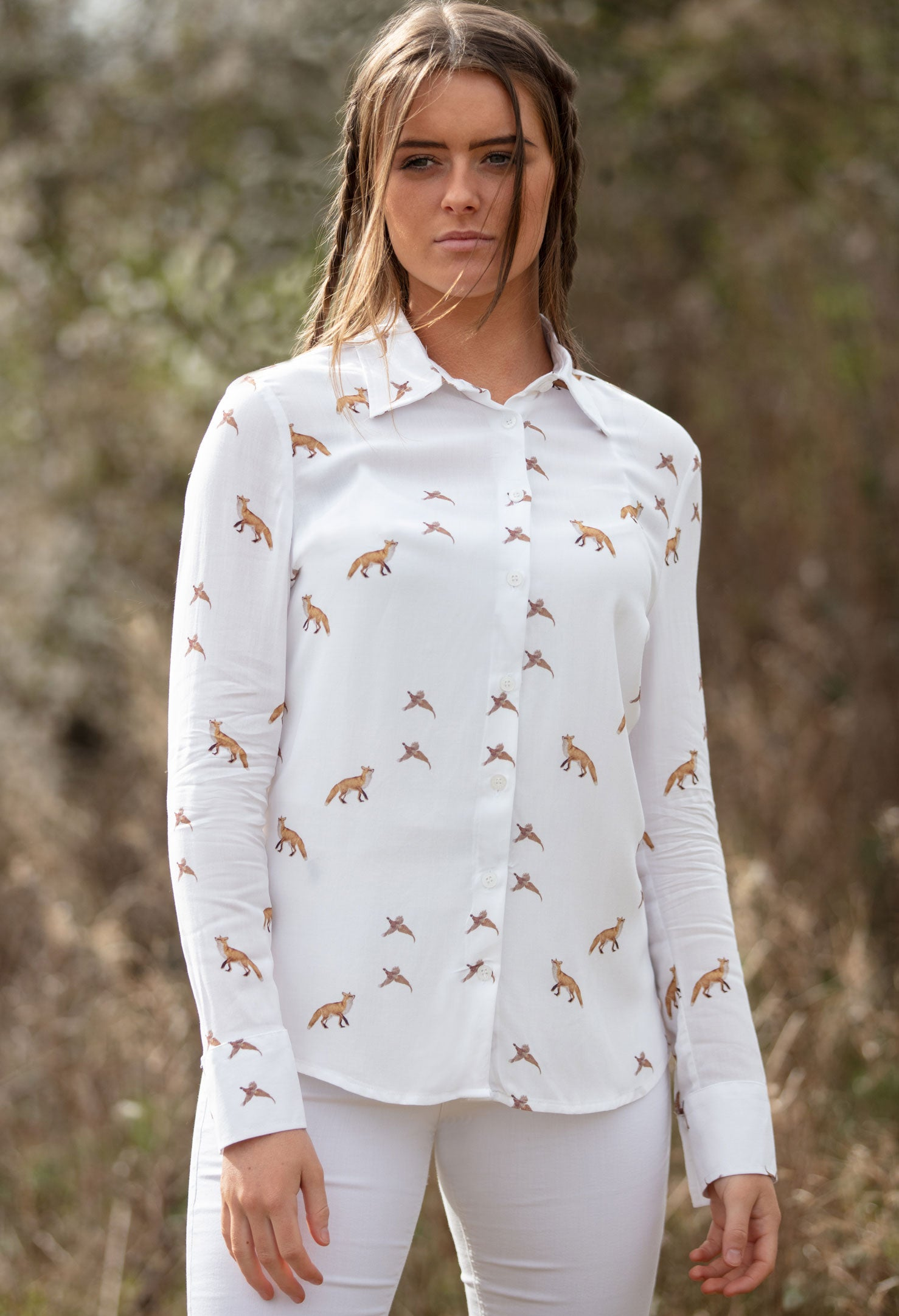 Hartwell Lydia Cotton Shirt | Foxes