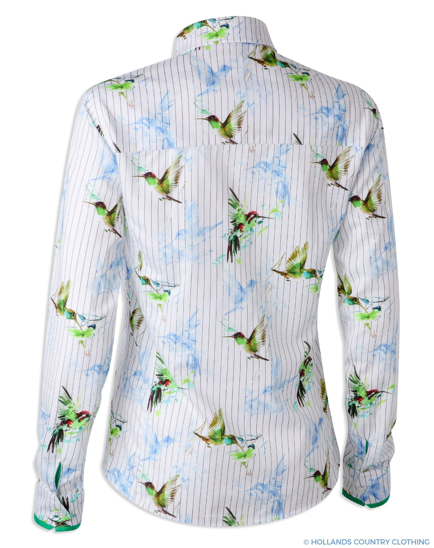 Back view Hartwell Layla Cotton Shirt | Hummingbird Stripe