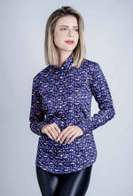 Hartwell Layla Cotton Shirt | Navy Jewel Beetles