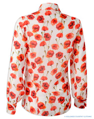 Back view Hartwell Lia Ladies Shirt | Poppy