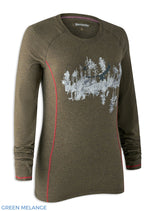 Green Melange Deerhunter Lady Hazel Long Sleeve Shirt