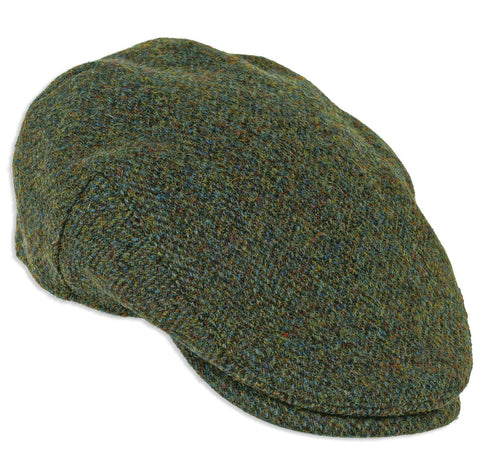 Heather Highland Harris Tweed Cap in Forest