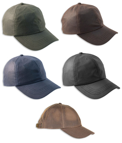 Heather Darley Wax Baseball Cap | Olive, Brown, Navy, Black Bark