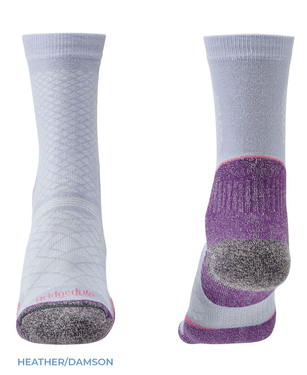 Heel and toe Bridgedale Women's Hike Ultra Light T2 Boot Sock