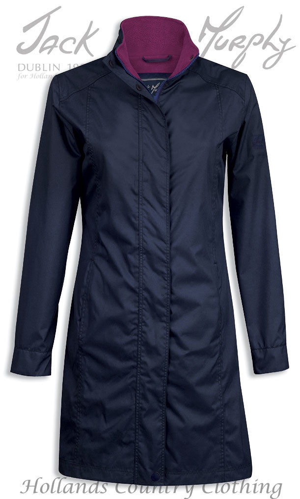 Navy Jack Murphy Henley Ladies Waterproof Breathable Coat