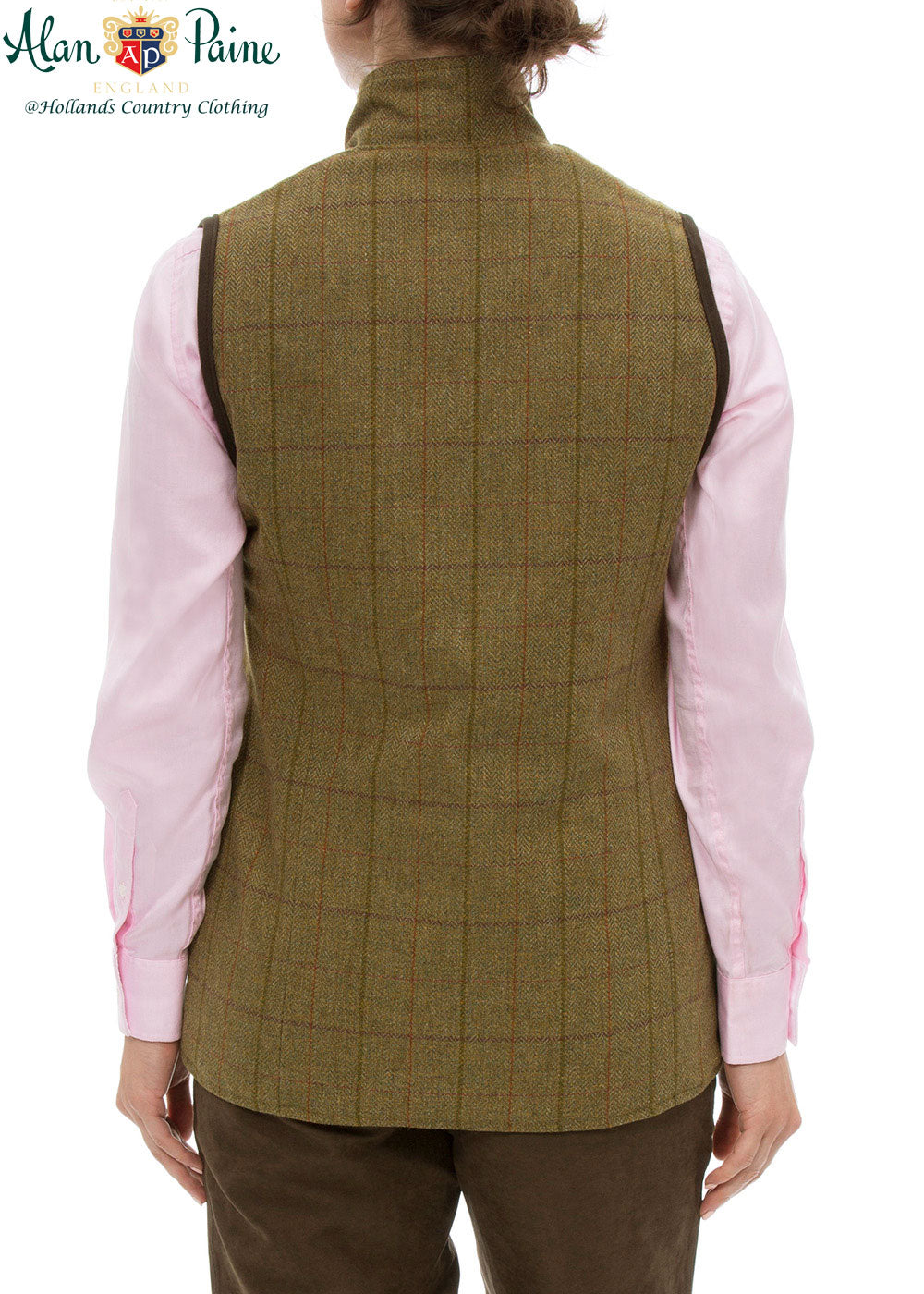 rear view Rutland Tweed Shooting Waistcoat by Alan Paine