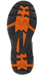 Hi Traction sole in Orange and Black Charcoal
