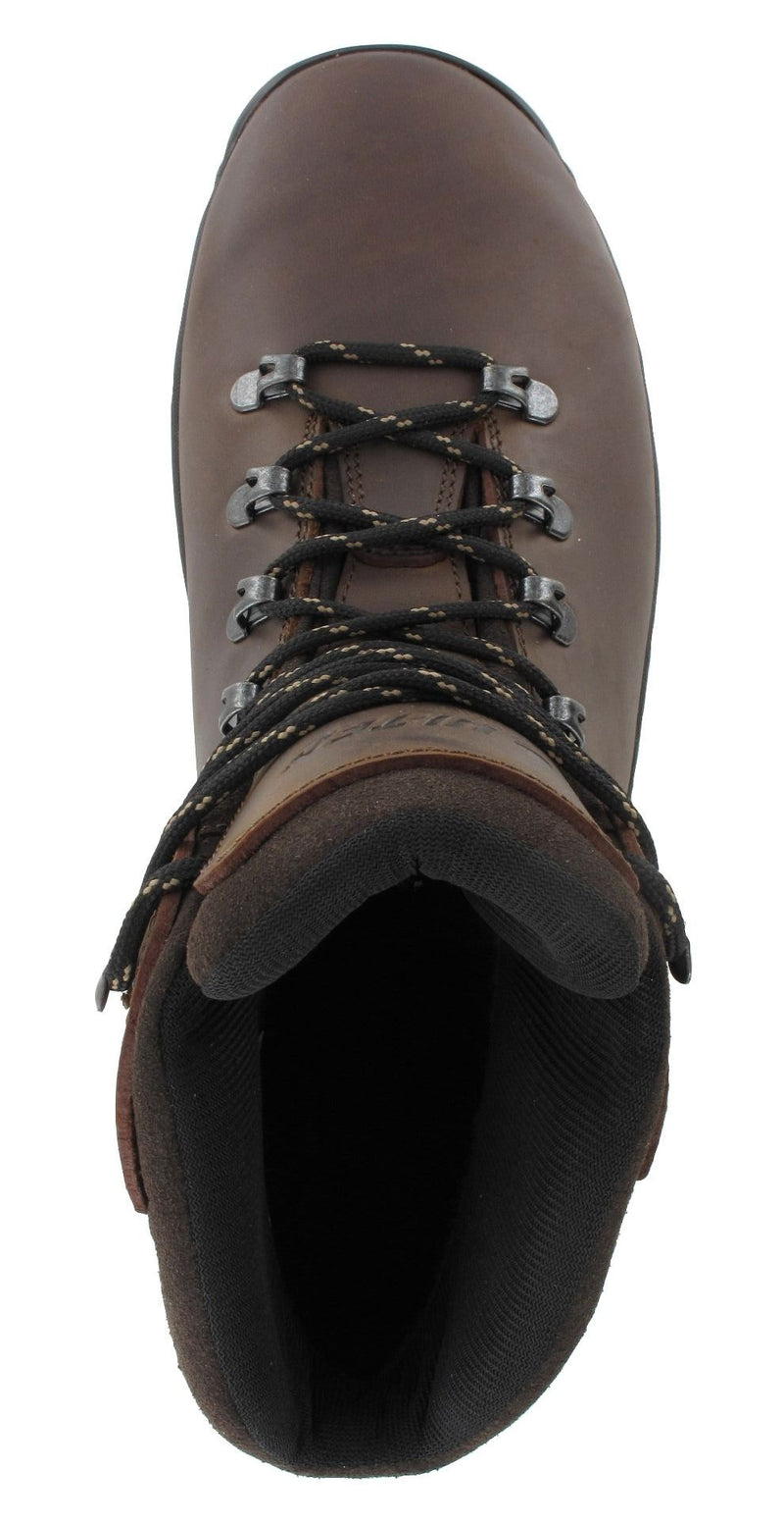 Brown Leather upper Ravine Men's Waterproof Hiking Boots by Hi-Tec