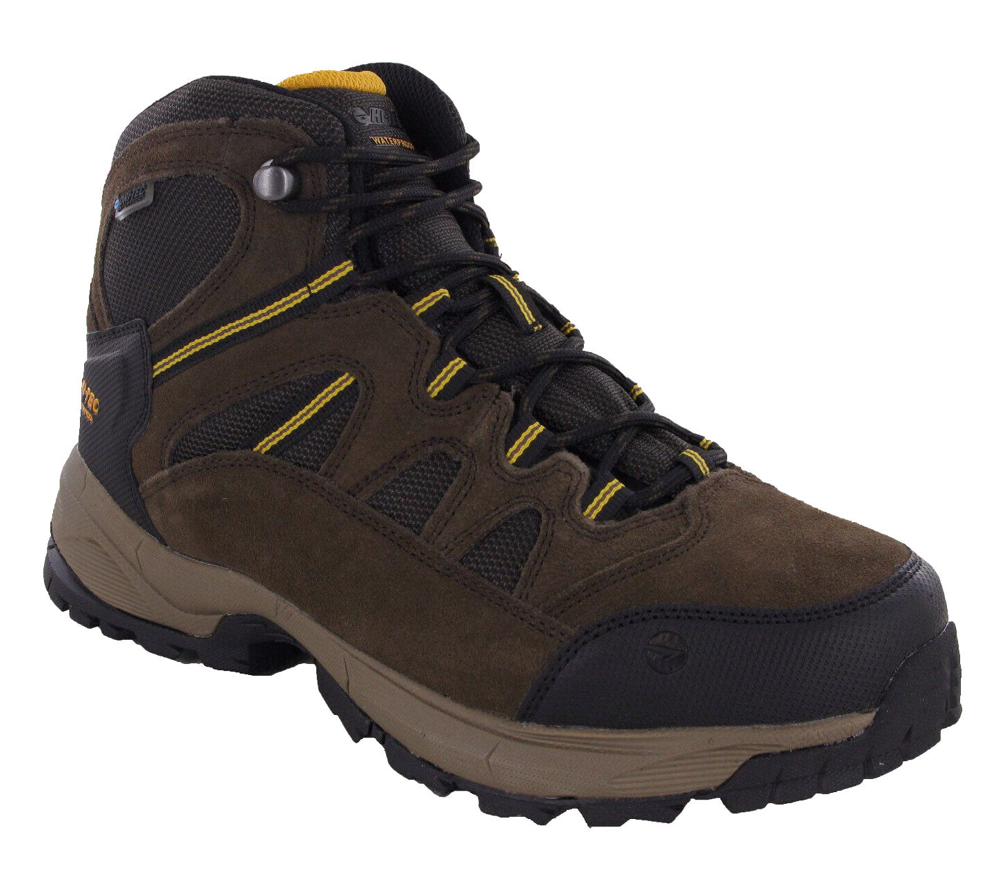 Gold and Chocolate Hi-Tec Bandera Lite Waterproof Hiking Boots