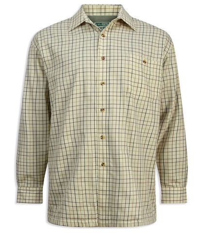 Hoggs of Fife Birch Fleece Lined Tattersall Shirt