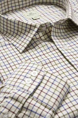 wine check hoggs of fife tattersall shirt