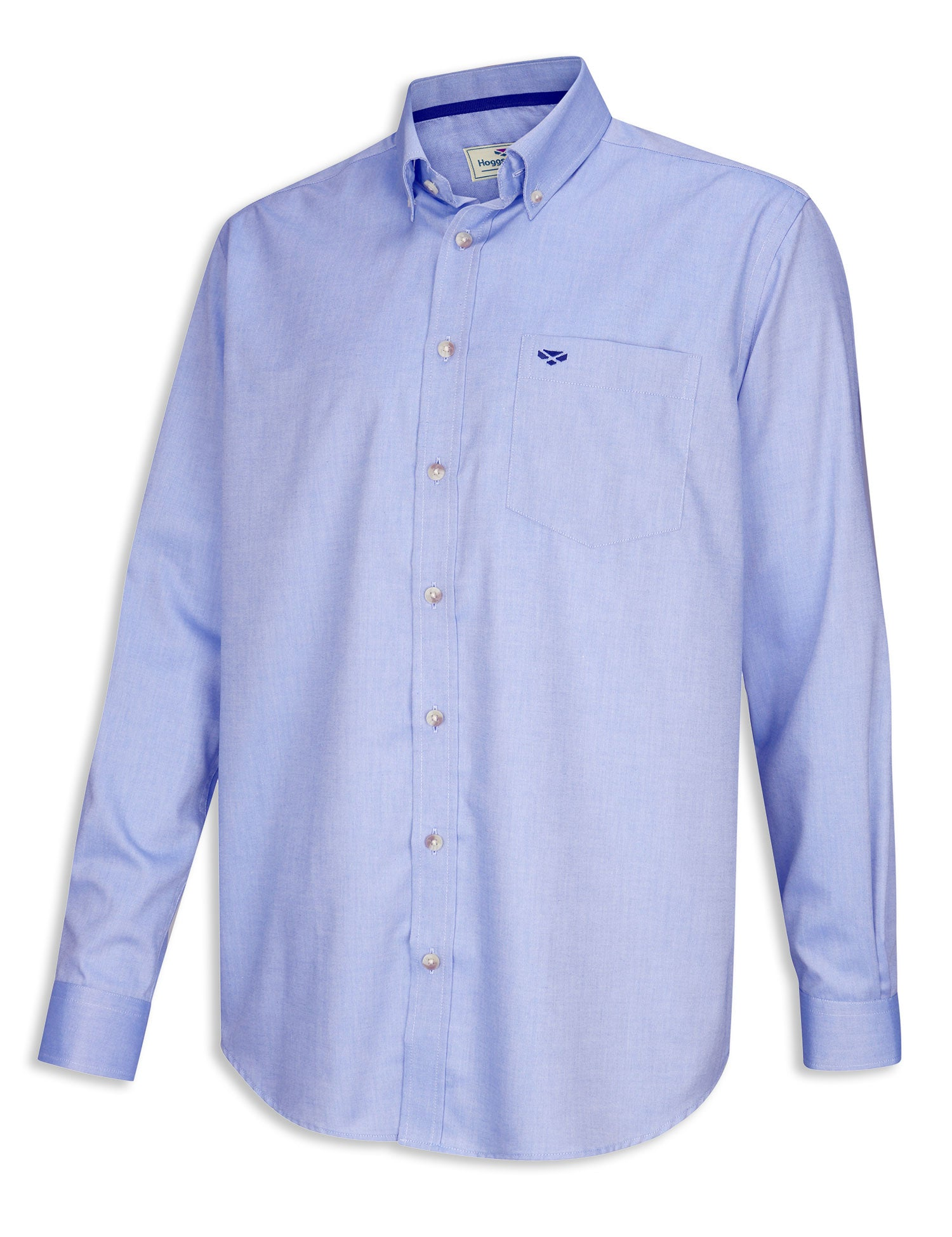 Hoggs Dunedin Plain Oxford Shirt | Blue