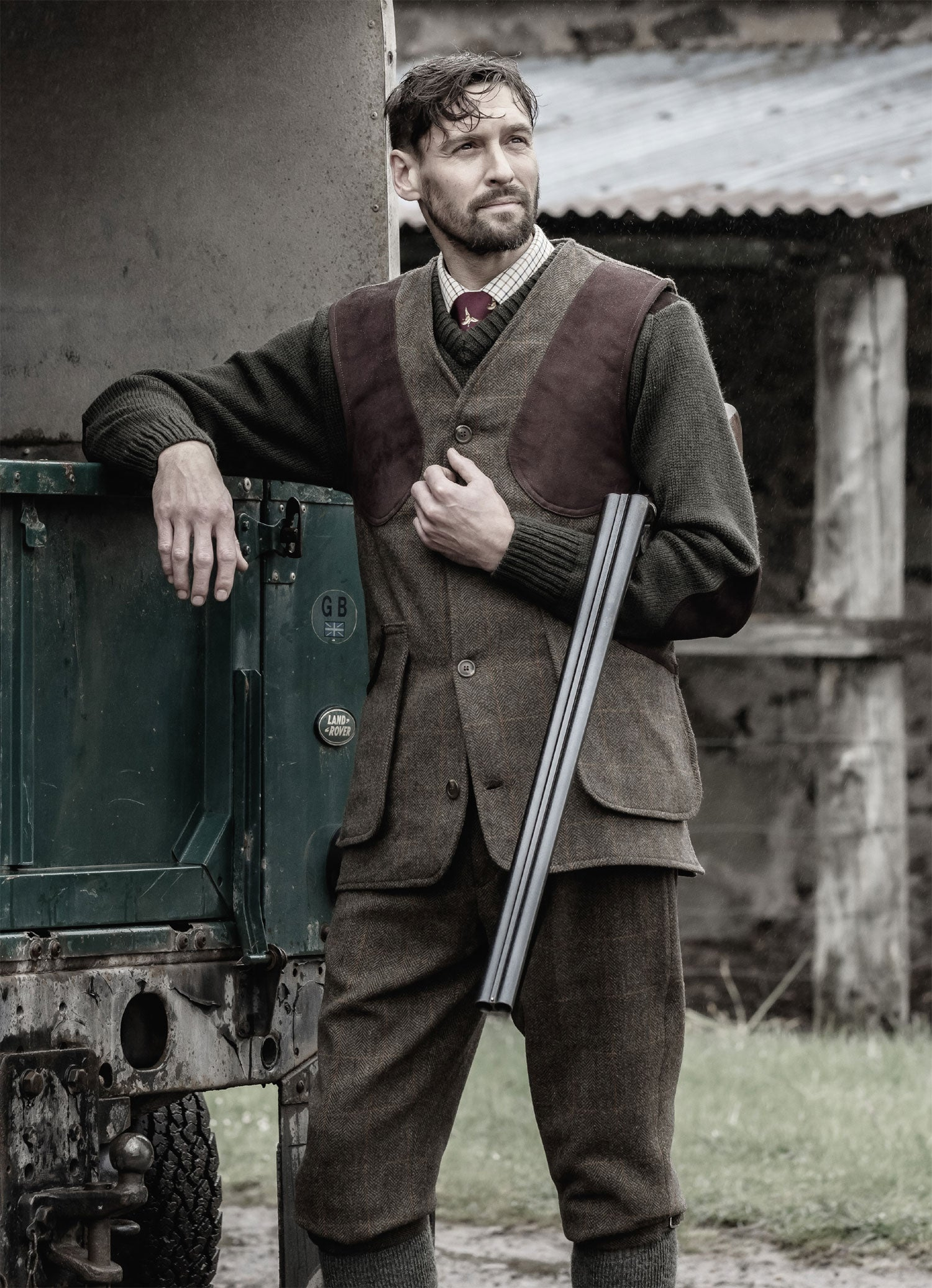 Harewood tweed shooting outfit