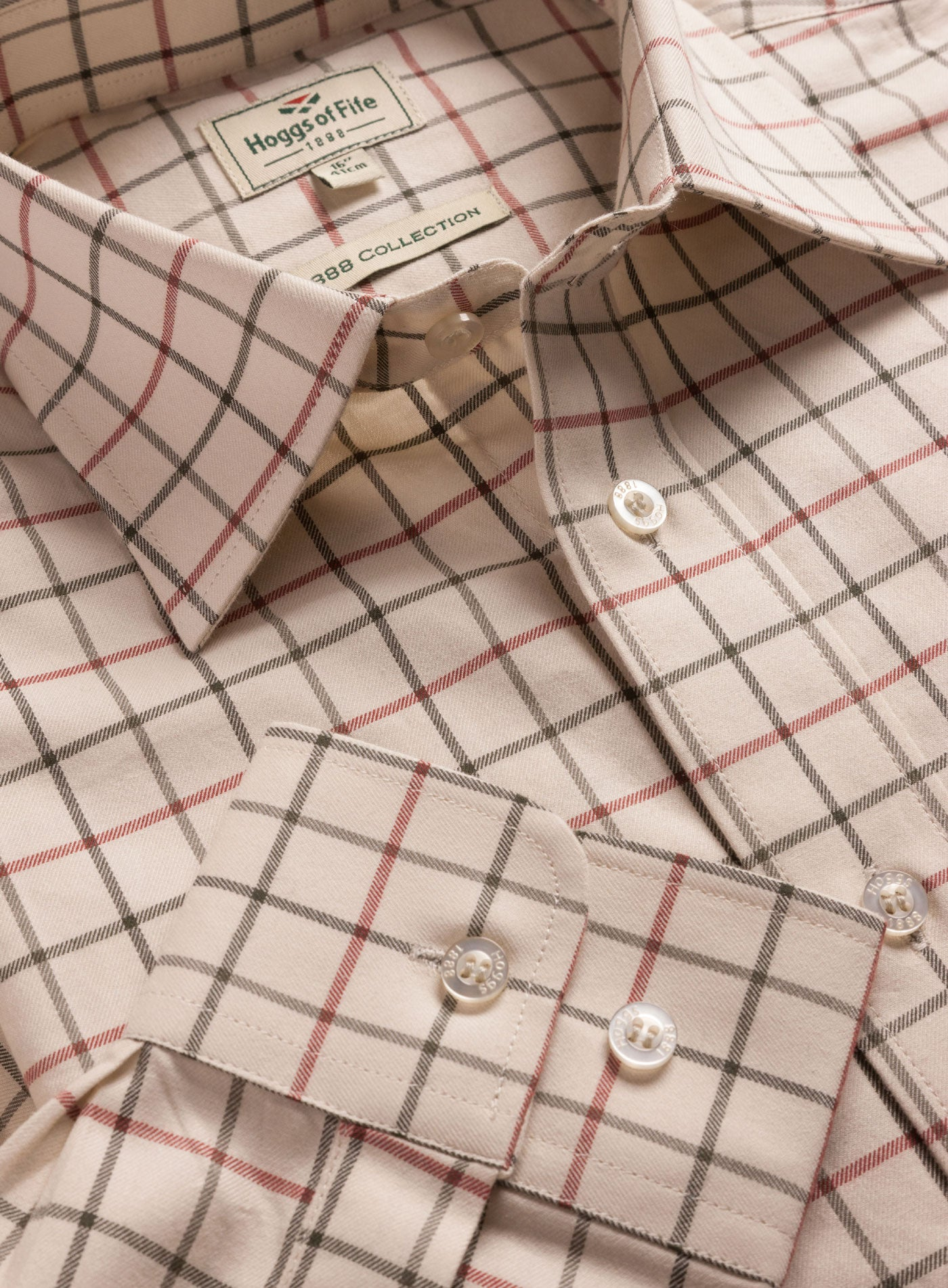 Hoggs of Fife Laird Tattersall Shirt PURE COTTON