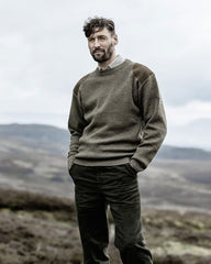 Melrose Crew Neck Country Sweater by Hoggs of Fife