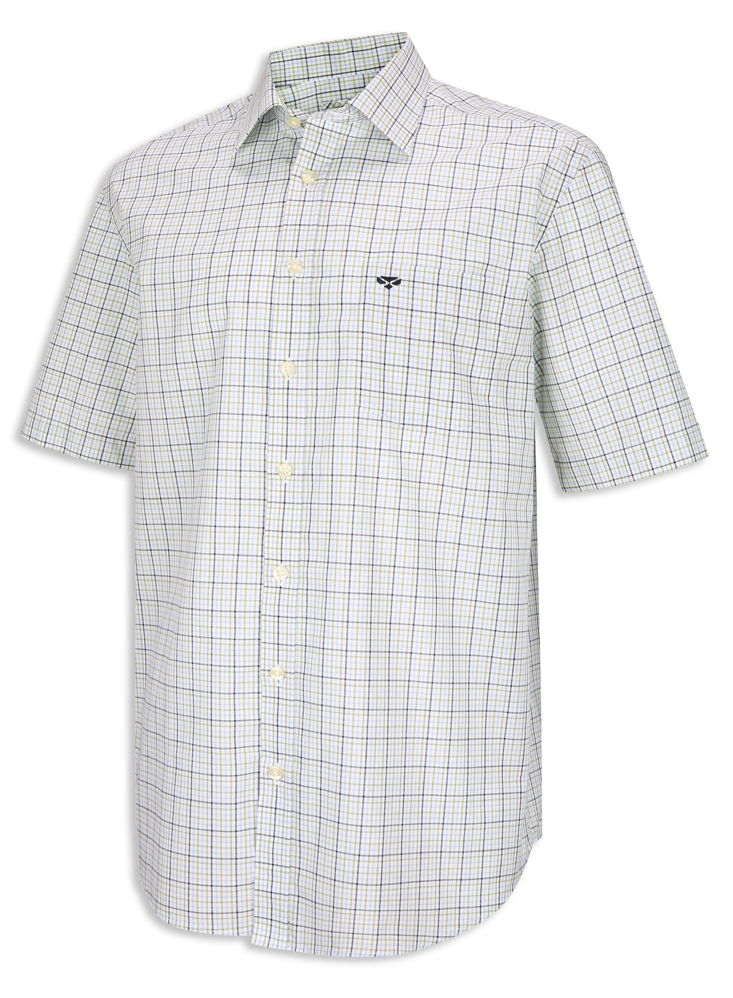 Blue and Green Hoggs of Fife Muirfield Short Sleeve Shirt