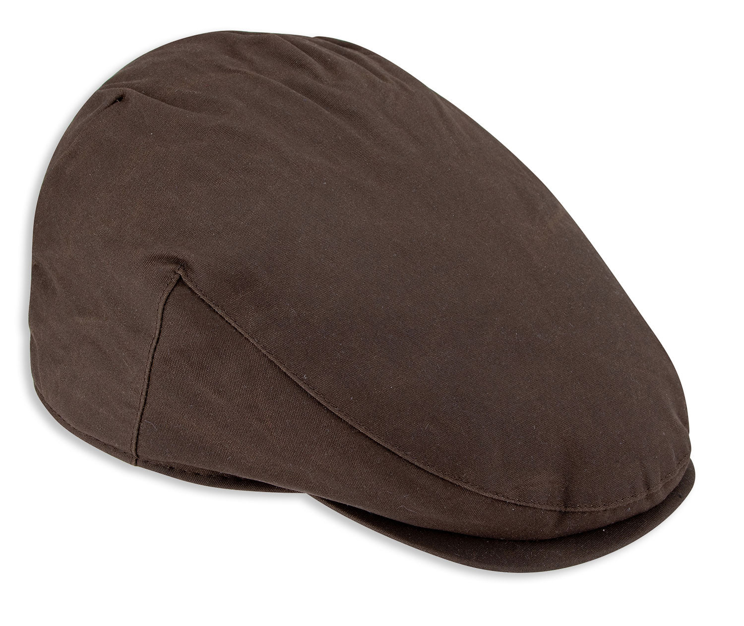 Hoggs of fife wax flap cap in brown
