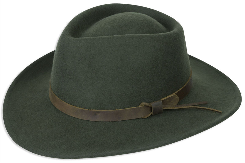 Green Hoggs Perth Crushable Felt Hat