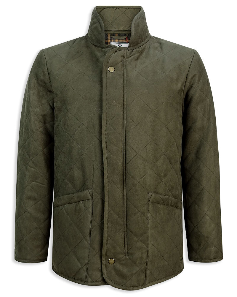 Hoggs of Fife Carlton Quilted Jacket in dark green