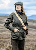 Cheltenham Belted Waxed Jacket by Hoggs of Fife