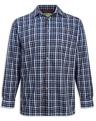Hoggs Bark Micro Fleece Lined Shirt | Blue Check