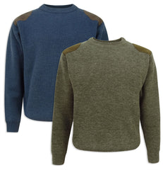 Hoggs Melrose Hunting Pullover | Marled green, Marled Navy