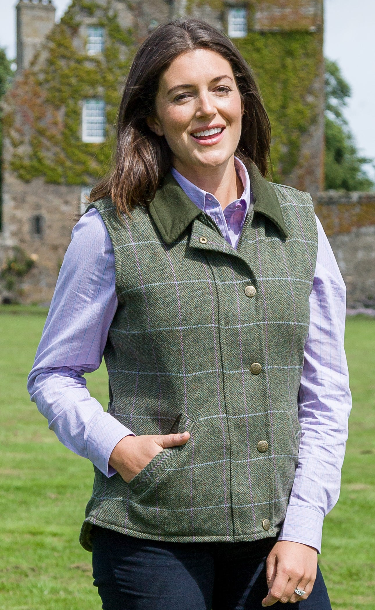 86fceb4648f49 Hoggs of Fife Albany Ladies Tweed Waistcoat – Hollands Country Clothing