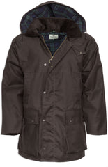 Brown Padded Wax Cotton Jacket by Hoggs of Fife