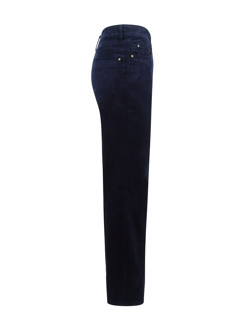 Stretch jeans in Navy cord