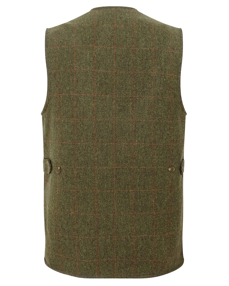 Back view Hoggs of Fife Harewood Tweed Waistcoat