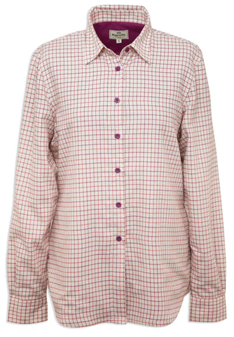 Hoggs Warm lined Lady's Alba Tattersall Check shirt is ideal for outdoor wear.