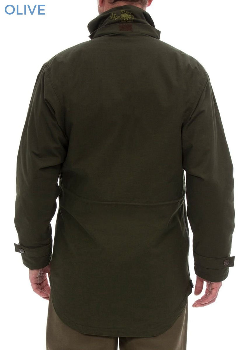 Back view Kexby Men's Waterproof Smock Jacket by Alan Paine