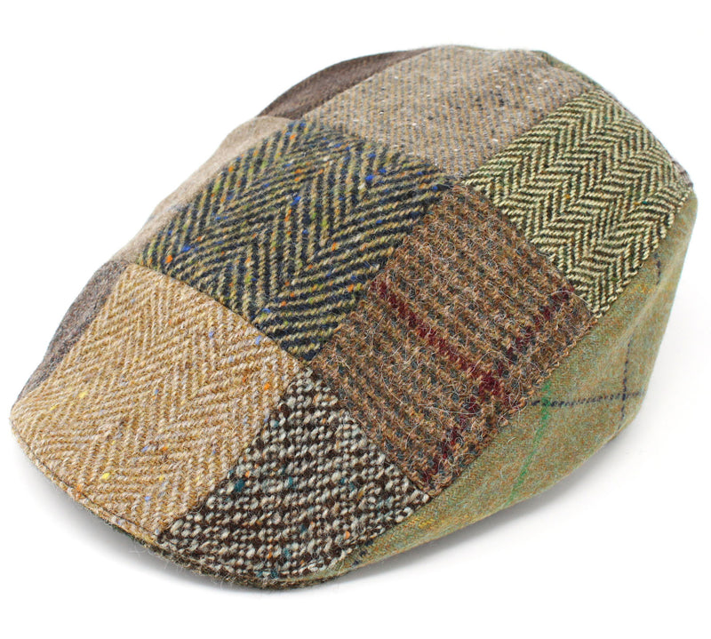 Hanna Patchwork Touring Cap | Brown and Green Patchwork