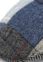 Blue and Grey tweed swatch Tweed Patchwork Flat Cap by Hanna Hats of Donegal