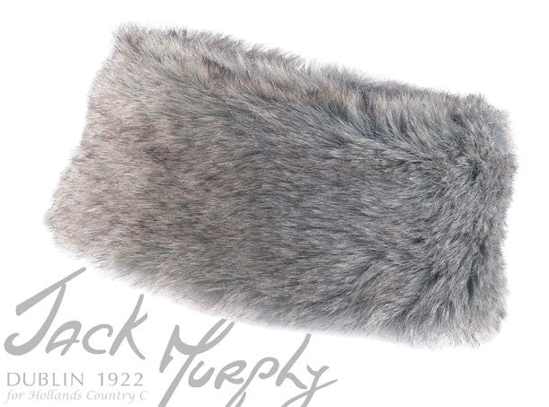 Jack Murphy Isaga Faux Fur Headband in winter grey posh fur