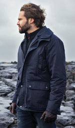 out in the rain Jack Murphy Archie Wax Jacket