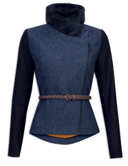 Jack Murphy Florrick Tweed Jacket - Navy Diamond