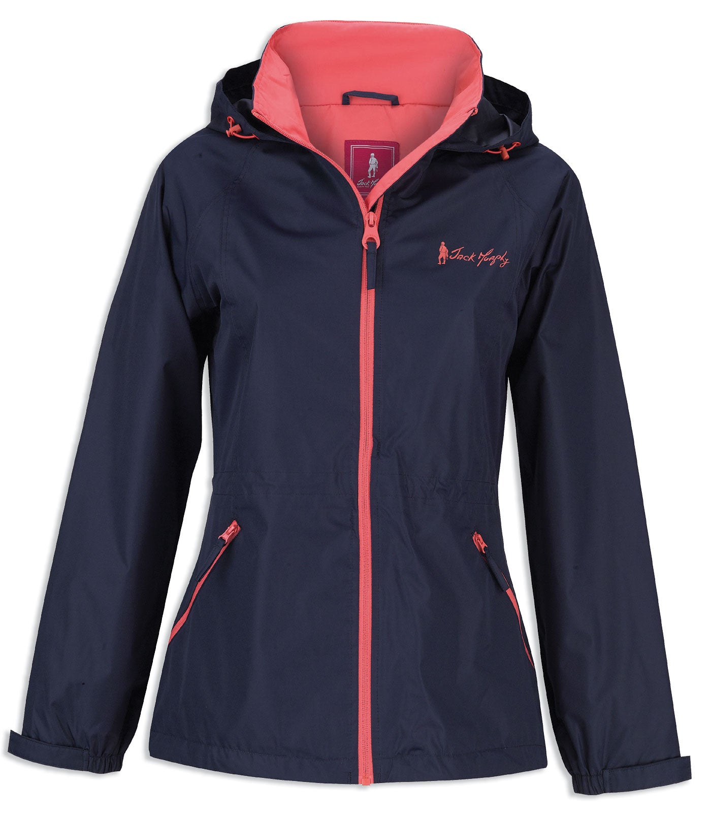 navy colour Jack Murphy Willow Lightweight Waterproof