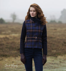 beautiful Ladies Jack Murphy Florrick Tweed Jacket Midnight walk