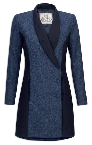 Jack Murphy Robin Tweed Frock Coat | Navy Super Diamond