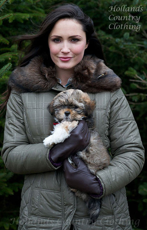 e2dde767b9931 Jack Murphy Cecily Padded Coat - with sherpa Fleece lining with large faux  fur collar