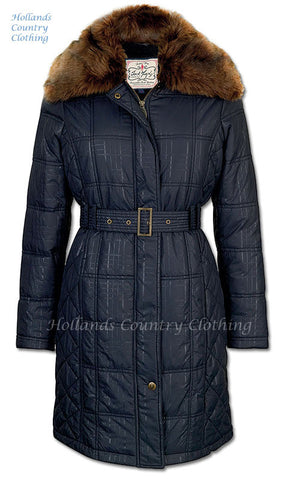 Jack Murphy Cecily Padded Coat - with sherpa Fleece lining colour black